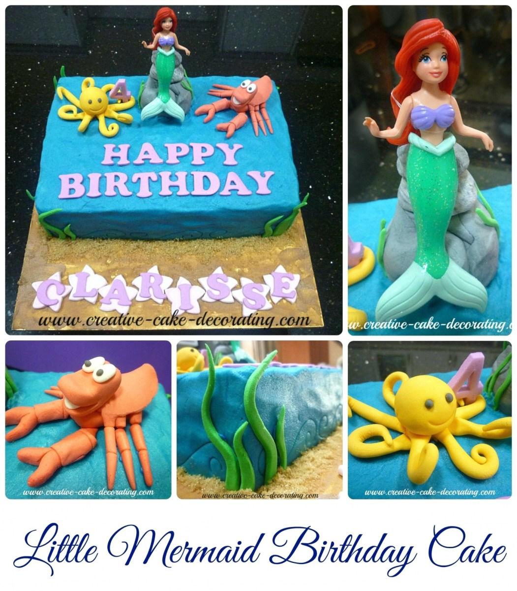 Little Mermaid Birthday Cake Walmart Cakes Disney Princess At Ideas