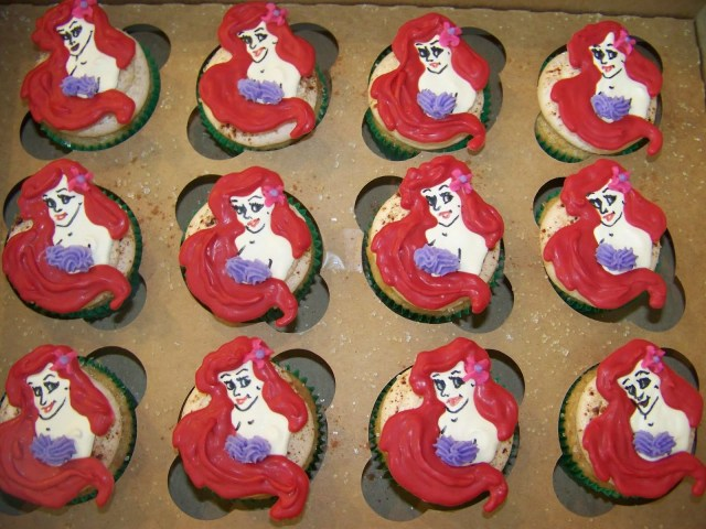 Little Mermaid Birthday Cake Walmart Cupcakes Little Mermaid Cupcakes Cake Little Mermaid Cupcakes