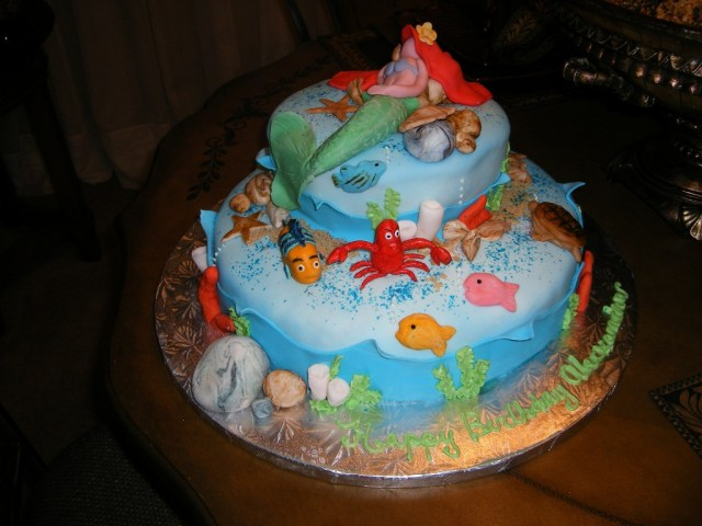 Little Mermaid Birthday Cake Walmart Cakes At