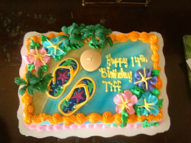 Little Mermaid Birthday Cake Walmart Luau Cakes Birthdayholiday Ideas Pinterest