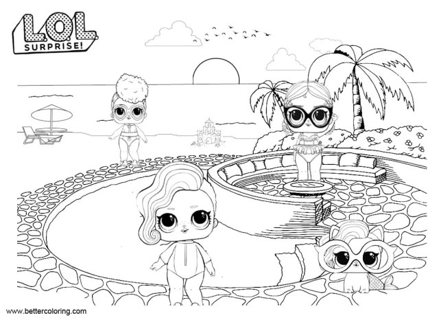 Lol Coloring Pages Lol Pets Coloring Pages Dolls With Pet Free Printable Coloring Pages