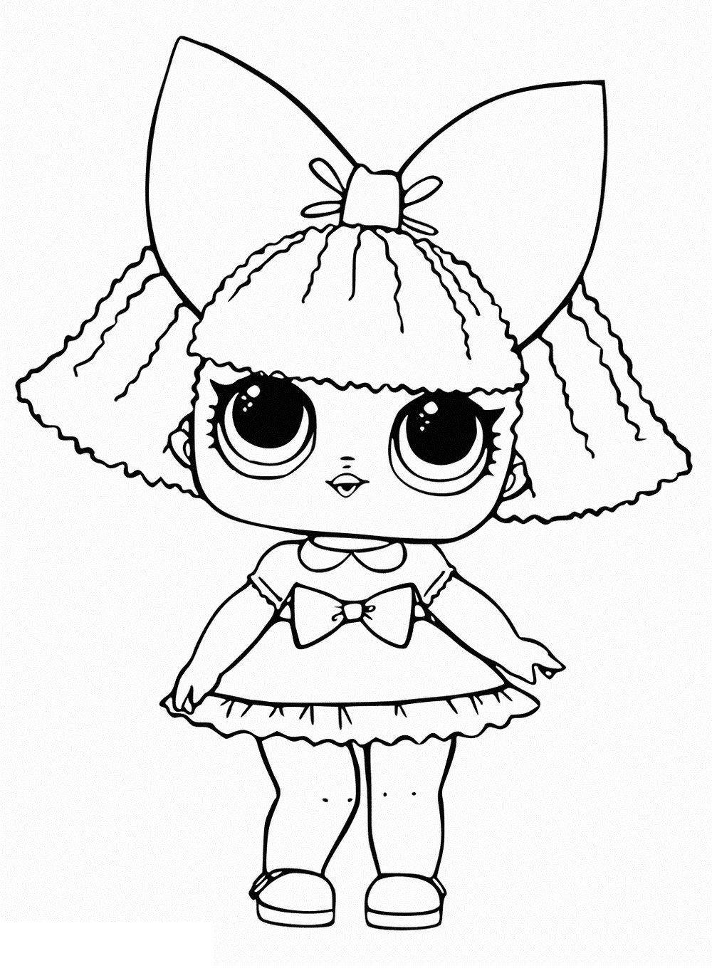Dusk - LOL Surprise Doll - Coloring Page by https://www.deviantart ... | 1367x1000