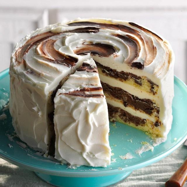 Marble Birthday Cake Recipe Marvelous Marble Cake Recipe Taste Of Home