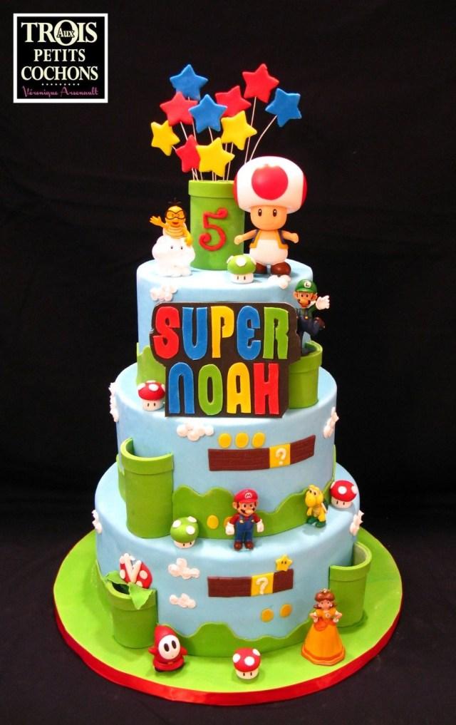 Mario Birthday Cake Made Aux Trois Petits Cochons Par Veronique Arsenault See