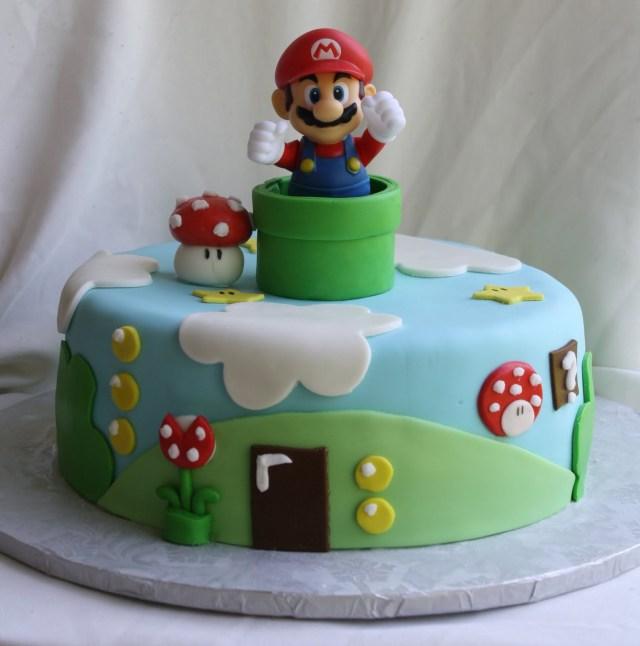 Mario Birthday Cake Super Mario Bros Cake