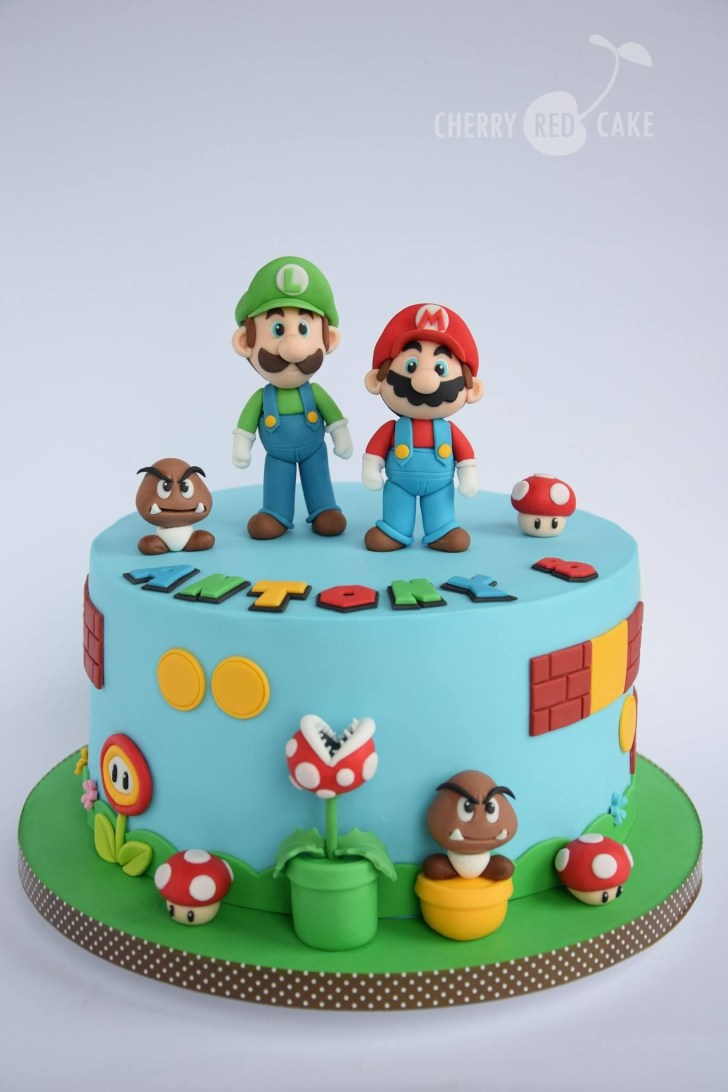 32+ Awesome Photo of Mario Birthday Cake