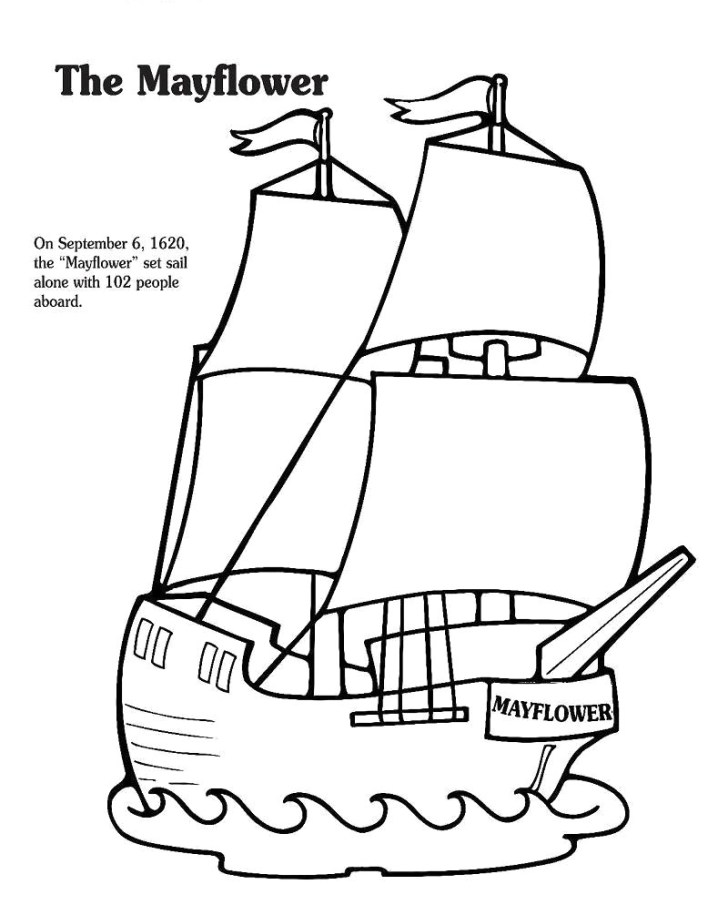 27+ Creative Picture of Mayflower Coloring Page