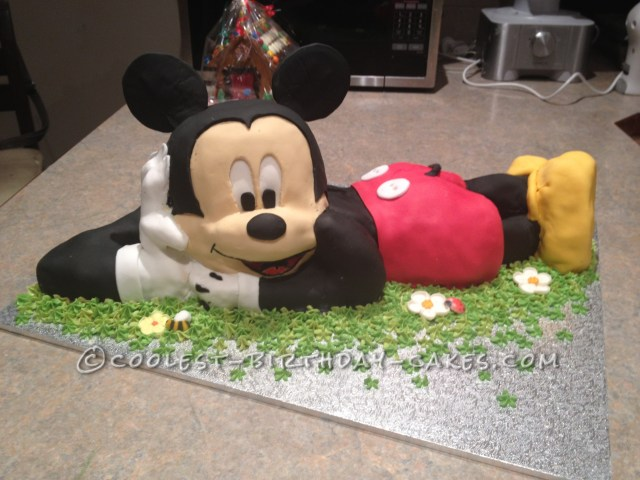 Mickey Mouse Birthday Cake Coolest 3d Mickey Mouse Cake For A 2nd Birthday