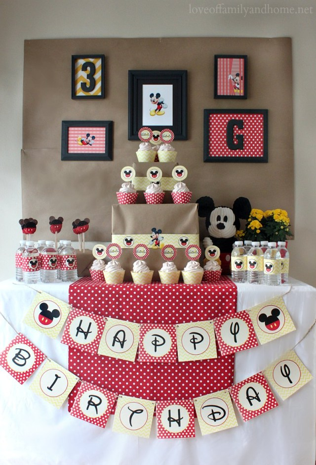 Mickey Mouse Birthday Cake Ideas 37 Adorable Mickey Mouse Birthday Party Ideas Table Decorating Ideas