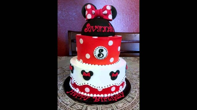 Mickey Mouse Birthday Cake Ideas Cute Minnie Mouse Cake Decorations Youtube