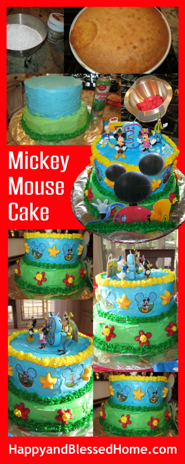 Mickey Mouse Birthday Cake Ideas Mickey Mouse Cake Happy And Blessed Home