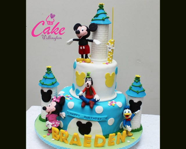 Mickey Mouse Birthday Cakes 1st Year Birthday Cake 13 Cake Wellington