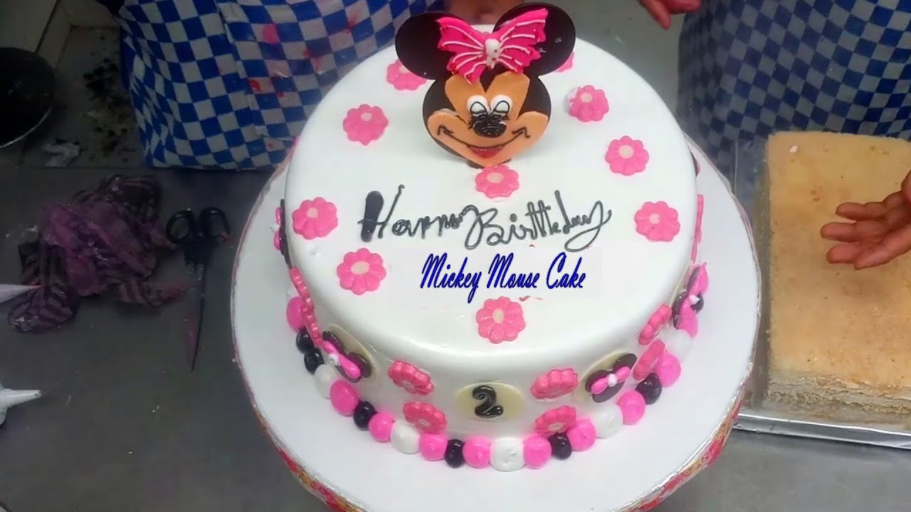 Mickey Mouse Birthday Cakes Easy Cake Design For Kids Decoration