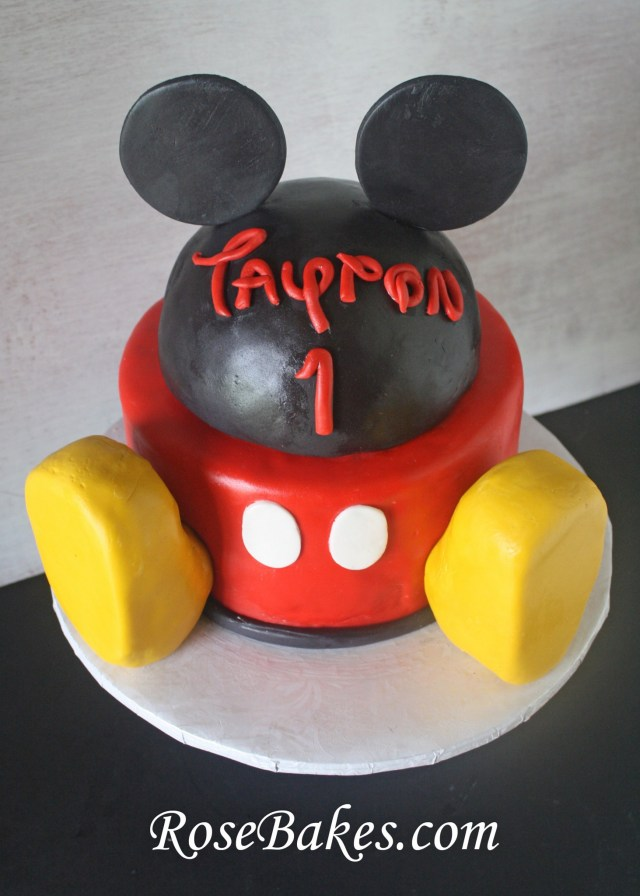 Mickey Mouse Birthday Cakes Mickey Mouse Clubhouse Birthday Cake Above Rose Bakes