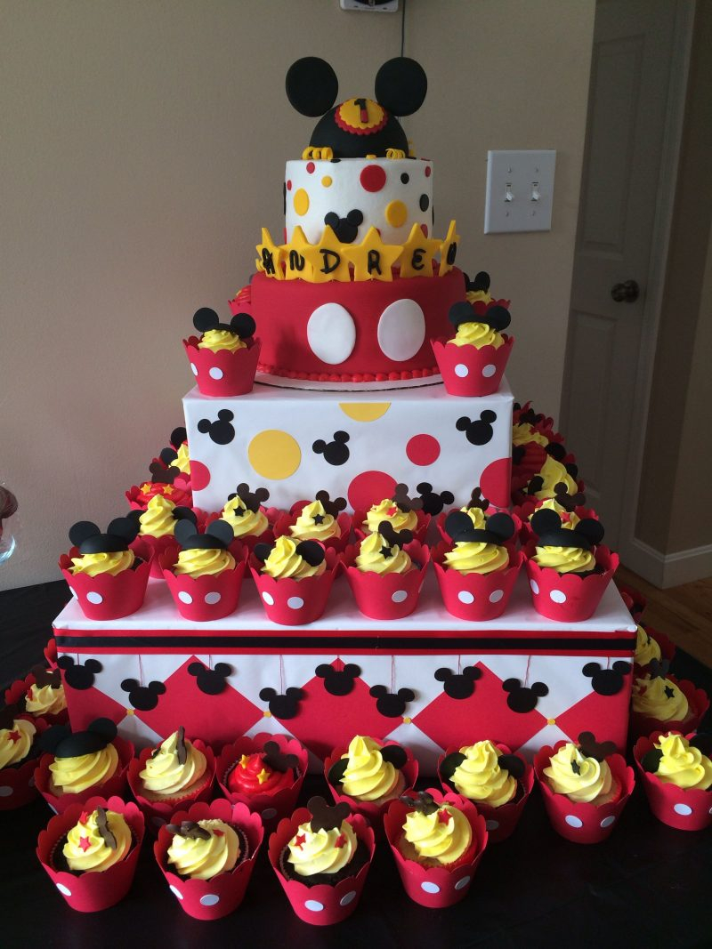 Mickey Mouse Clubhouse Birthday Cakes Cupcakes Mickey Mouse Cupcake Cake Mickey Mouse Clubhouse Birthday