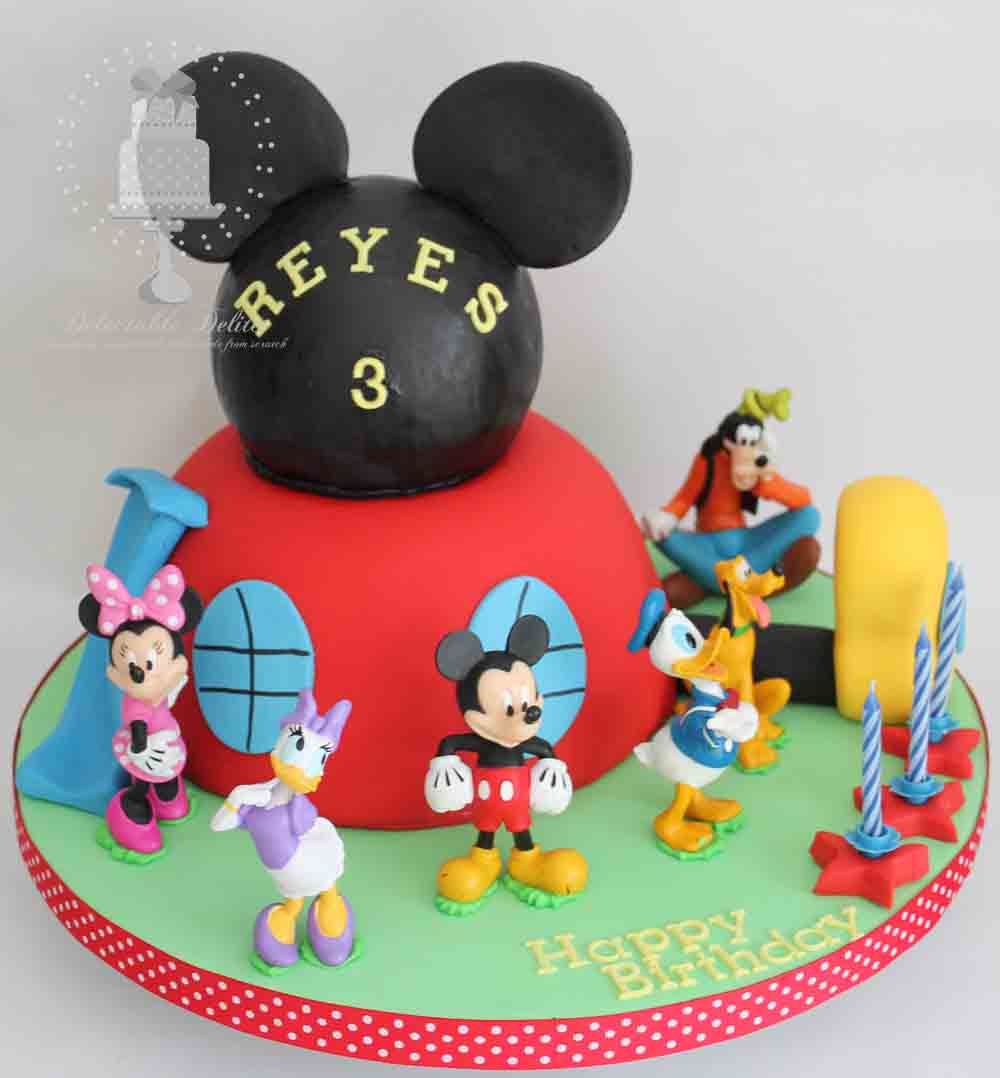 Mickey Mouse Clubhouse Birthday Cakes Delectable Delites Mickey Mouse Clubhouse Cake For Reyess 3rd Birthday