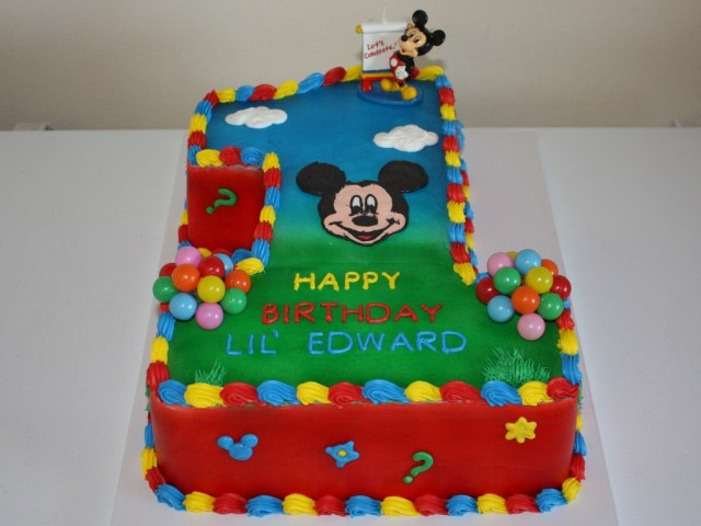 Mickey Mouse Clubhouse Birthday Cakes Mickey Mouse Clubhouse 1st Birthday Cake Cakecentral