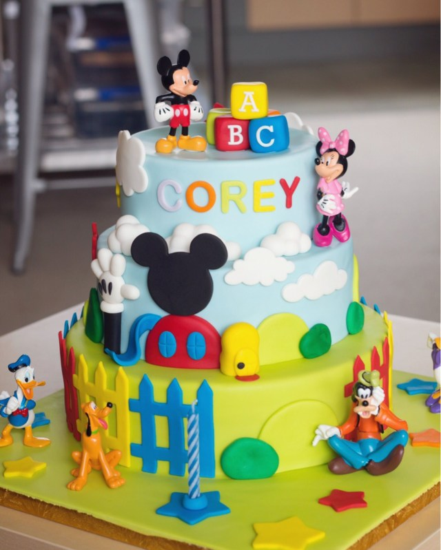 Mickey Mouse Clubhouse Birthday Cakes Mickey Mouse Clubhouse 3 Tier Cake 3 Year Old Party Pinterest