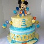Mickey Mouse First Birthday Cake 11 Mickey Mouse 1st Bday Cakes Photo Mickey Mouse First Birthday