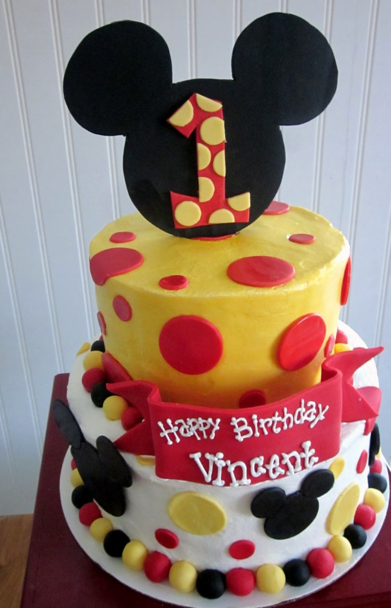 Mickey Mouse First Birthday Cake Darlin Designs And Smash