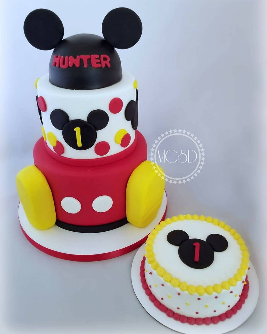 Mickey Mouse First Birthday Cake Mickey Mouse 1st Birthday Cake ...