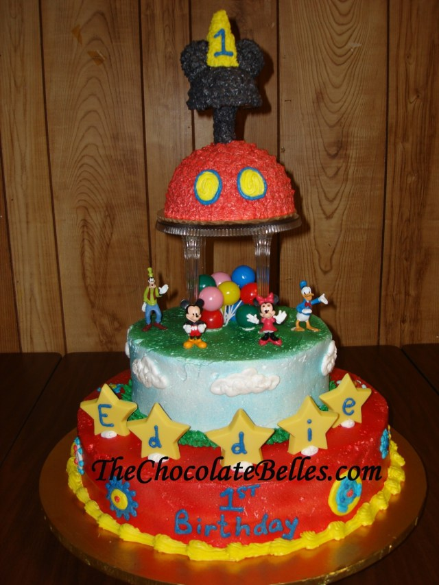 Mickey Mouse First Birthday Cake Mickey Mouse Tier 1st Birthday Cake