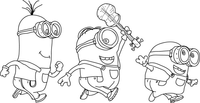 Minions Coloring Pages Minion Coloring Pages Best Coloring Pages For Kids