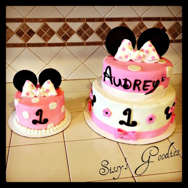 Minnie Mouse 1St Birthday Cake Minnie Mouse 1st Birthday Cake And Smash Cake Cakecentral