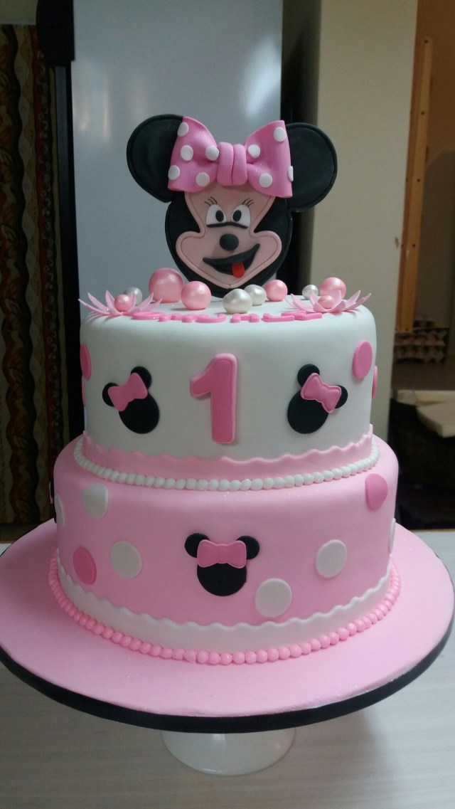Minnie Mouse 1St Birthday Cake Minnie Mouse 1st Birthday Cake Made Colleen De Wet Cakes I