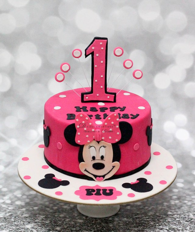 Minnie Mouse 1St Birthday Cake Minnie Mouse Cake D Cake Creations