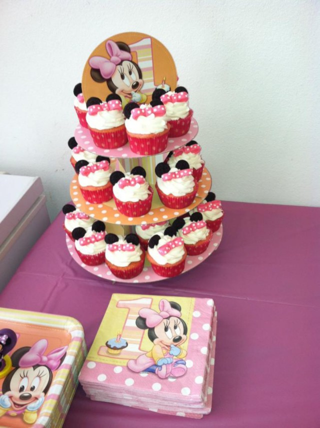Minnie Mouse 1St Birthday Cake Minnie Mouse Cupcakes For 1st Birthday Cake Cake Theater