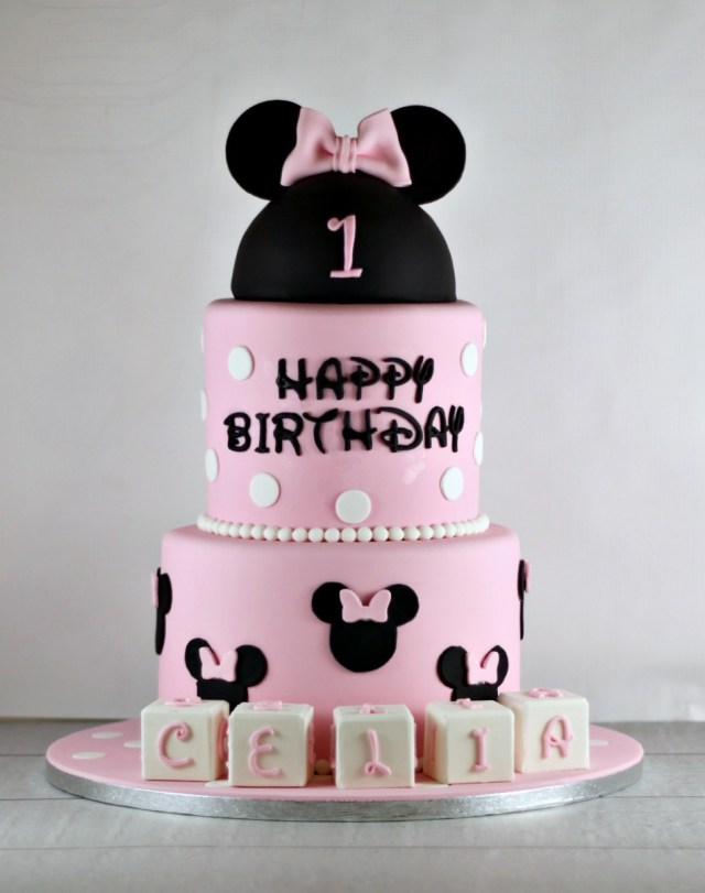 Minnie Mouse 1St Birthday Cake Minnie Mouse First Birthday Cake Lil Miss Cakes