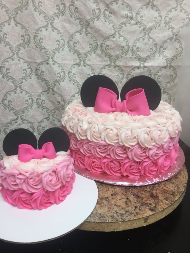 Minnie Mouse 1St Birthday Cake Minnie Mouse Rosette Cake Bs Sweets Cakes Pinterest Birthday