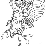 Monster High Coloring Page Free Printable Monster High Coloring Pages For Kids
