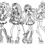 Monster High Coloring Page Monster High Coloring Pages All Characters Bestappsforkids