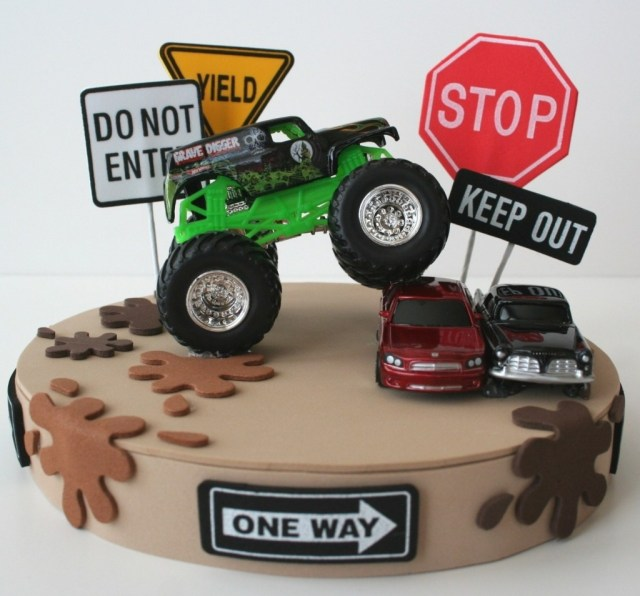 Monster Jam Birthday Cake Hairy Monster Truck Birthday Party Food Table Display For Ideas