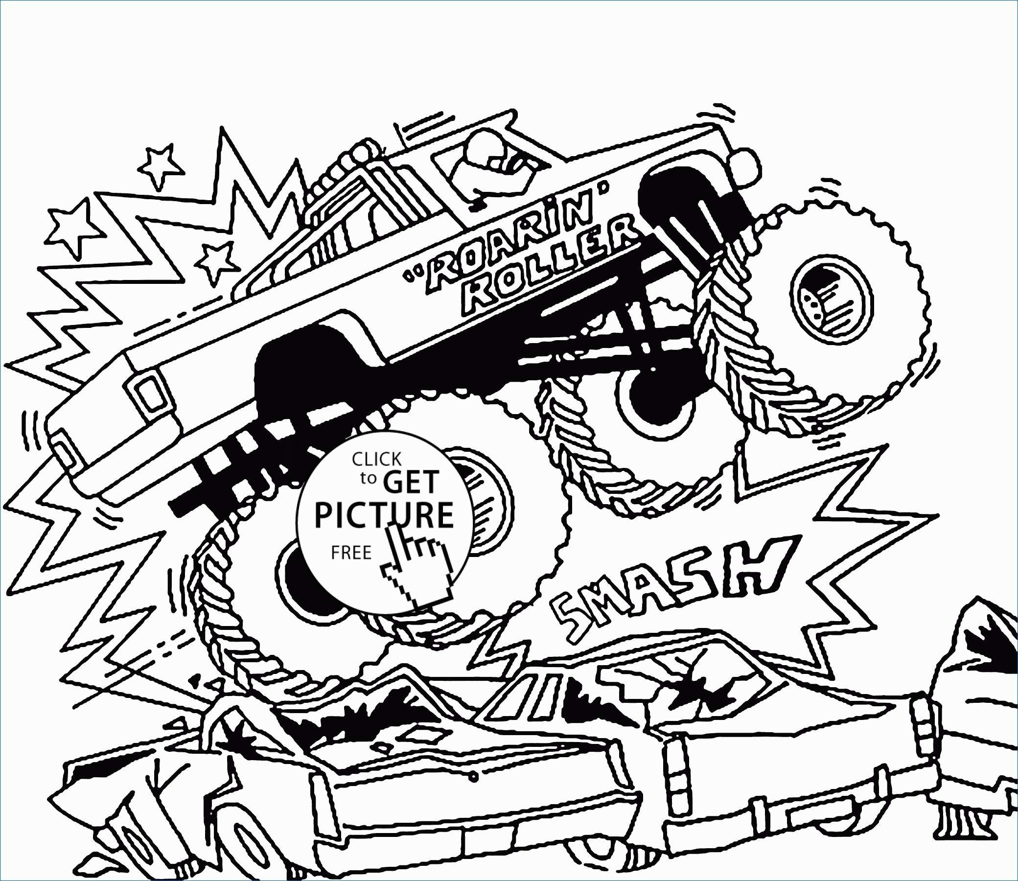 Monster Jam Coloring Pages Free Monster Truck Coloring ...