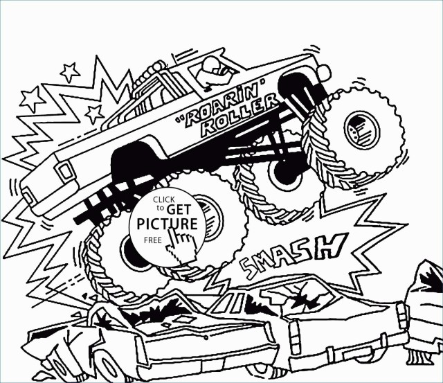 Monster Jam Coloring Pages Free Monster Truck Coloring Pages To Print New Free Monster Truck