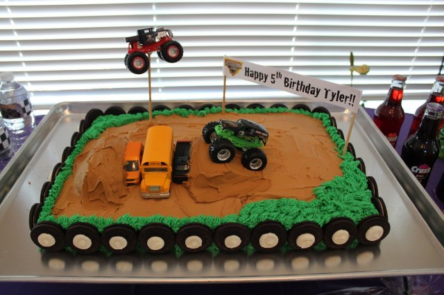Monster Truck Birthday Cakes Its Fun 4 Me Monster Truck 5th Birthday Party Rickys 3rd