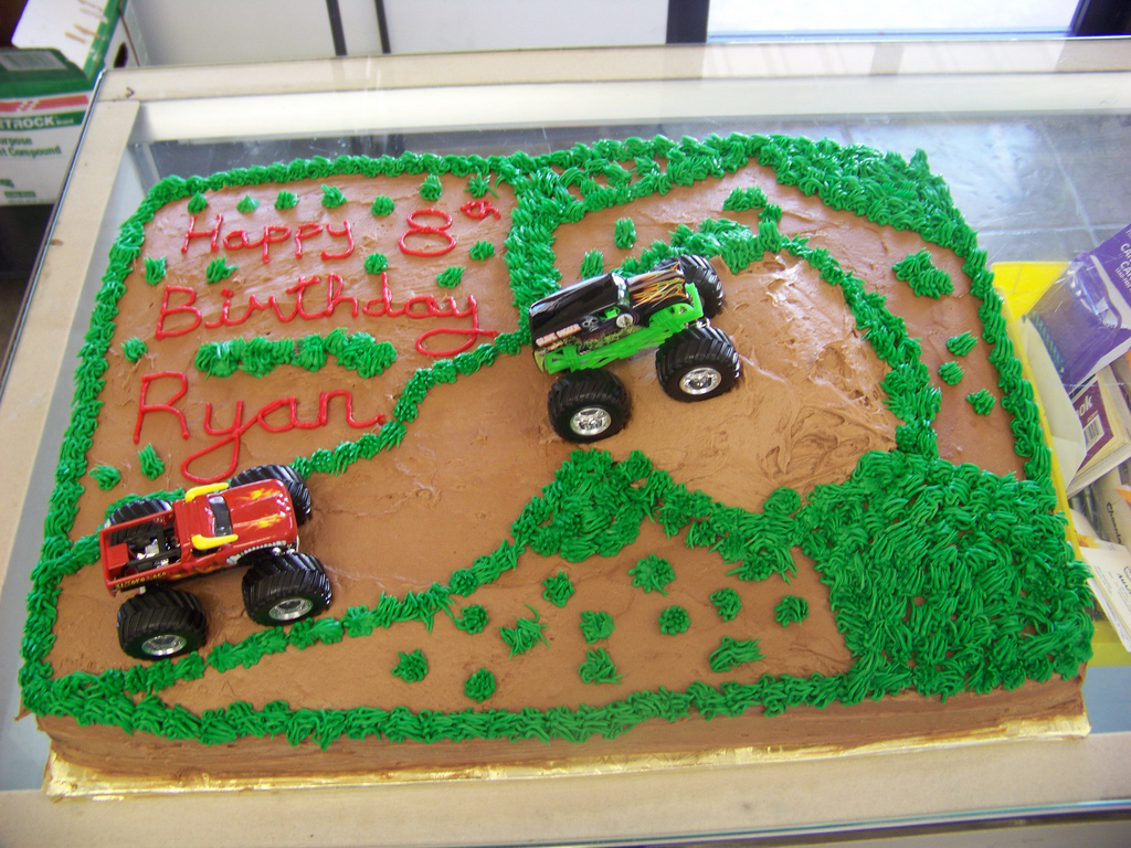 Monster Truck Birthday Cakes Cake A 12 Sheet Chocolate Cov Flickr