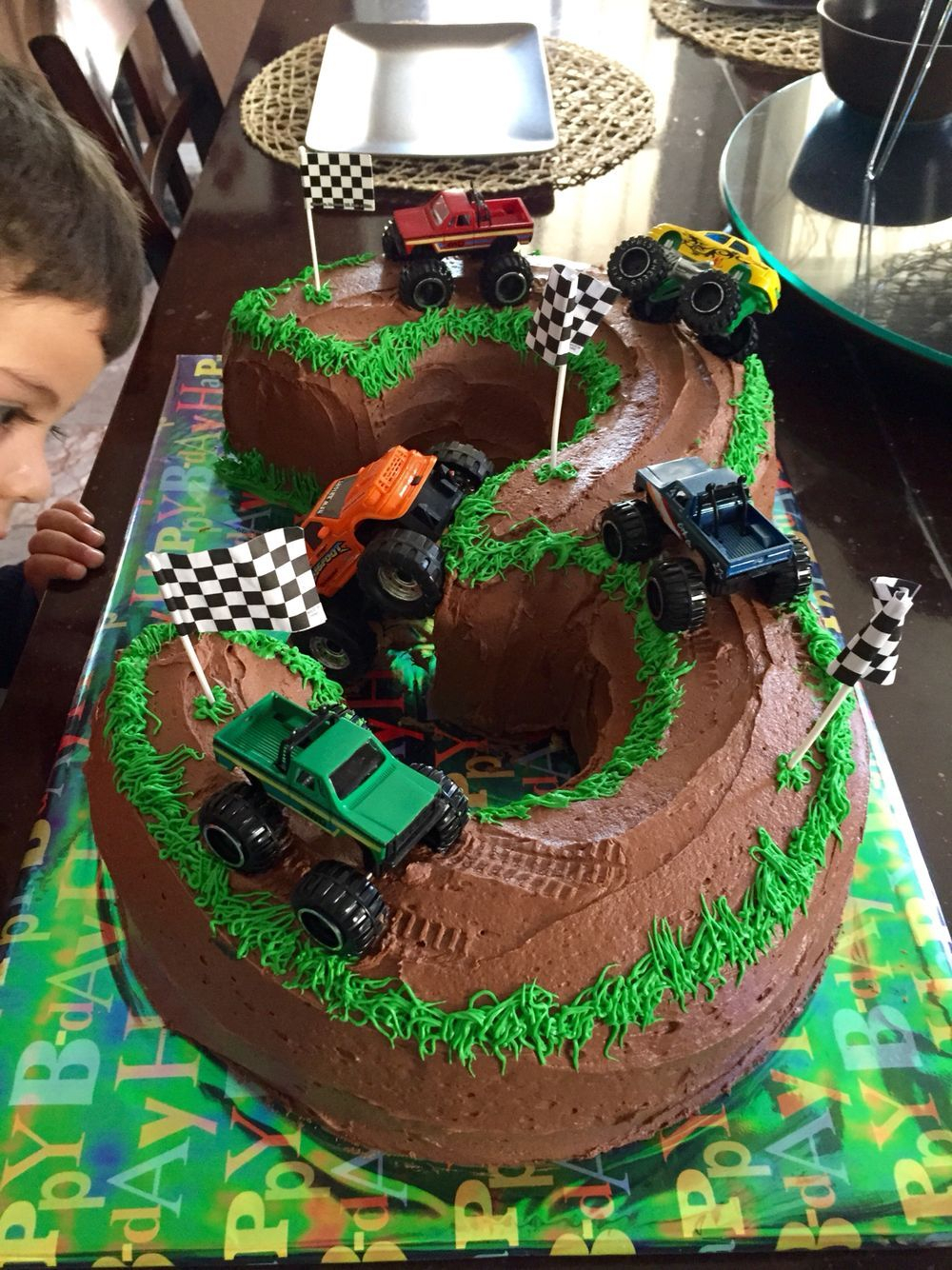 Monster Truck Birthday Cakes Cake 3 Years Old Monstertrucks Blaze Bday
