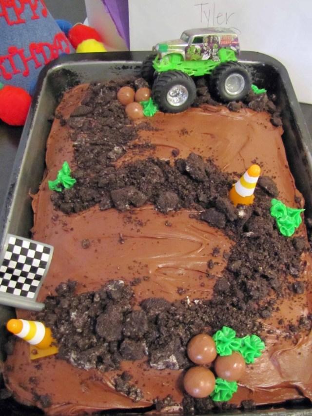 Monster Truck Birthday Cakes Monster Truck Themed Birthday Cake School Time Snippets