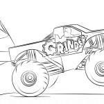 Monster Truck Coloring Pages Grinder Monster Truck Coloring Page Free Printable Pages New To