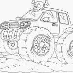 Monster Truck Coloring Pages Monster Truck Coloring Pages For Kids With Hot Wheels Monster Truck