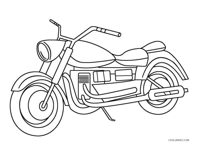 Motorcycle Coloring Pages Free Printable Motorcycle Coloring Pages For Kids Cool2bkids