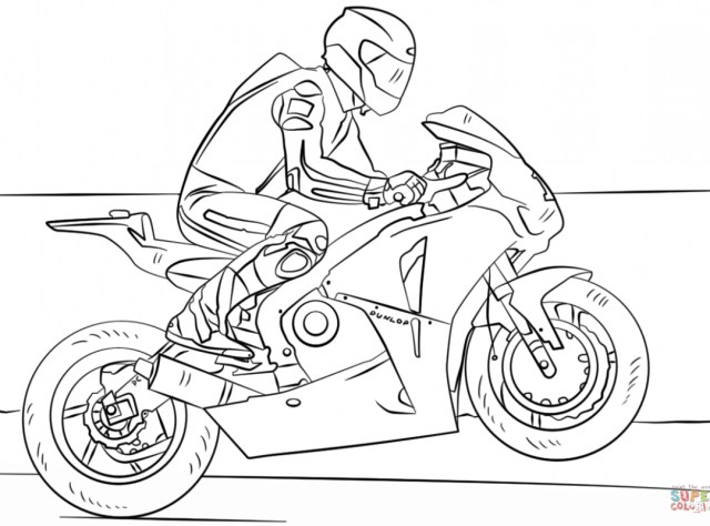 Motorcycle Coloring Pages Motorcyclering Pages For Toddlers Easy Harley Davidson To Print
