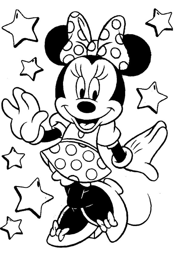 Mouse Coloring Page Mini Mouse Coloring Page Thanhhoacar