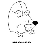 Mouse Coloring Page Mouse Coloring Page Super Simple
