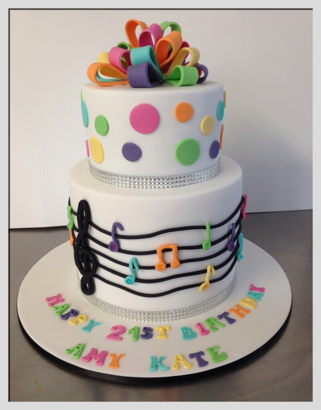 Music Birthday Cakes Cake Theme Naturallycurlye
