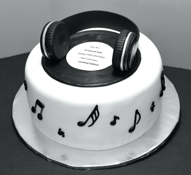 Music Birthday Cakes Cool Black White Cake Wwwdelightfulscom Xurl
